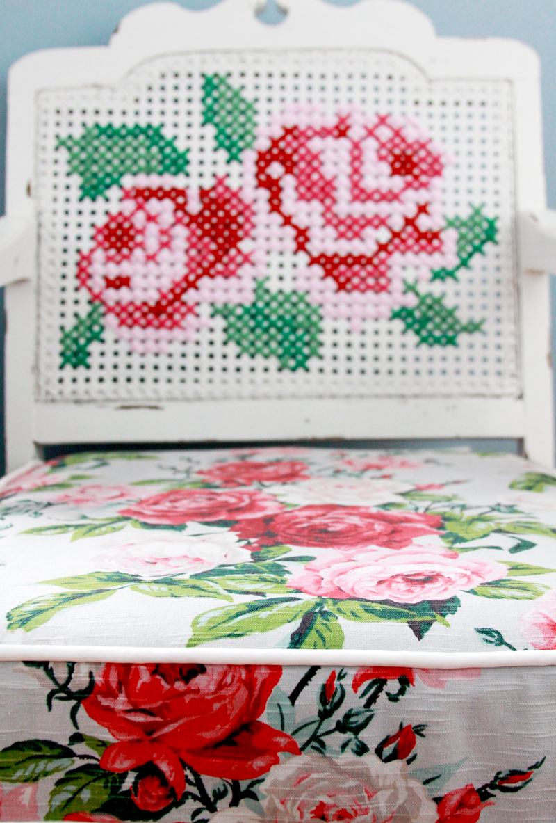 Vintage Fabric on Chair