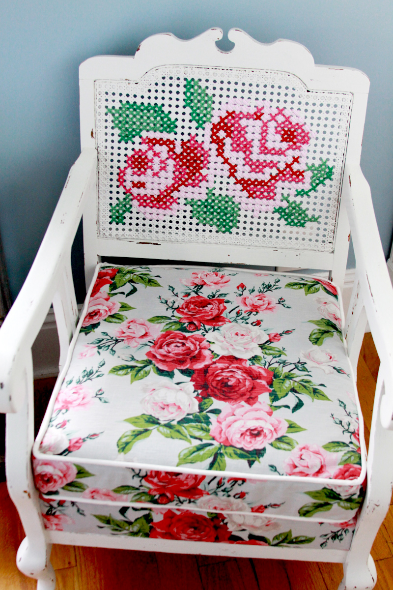 Vintage Roses Chair Refashion