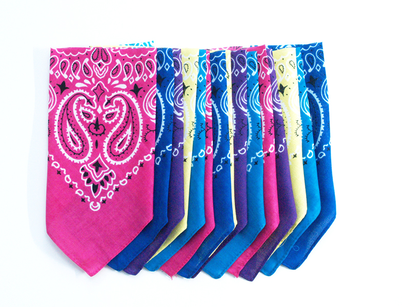 bandana pennants for bunting