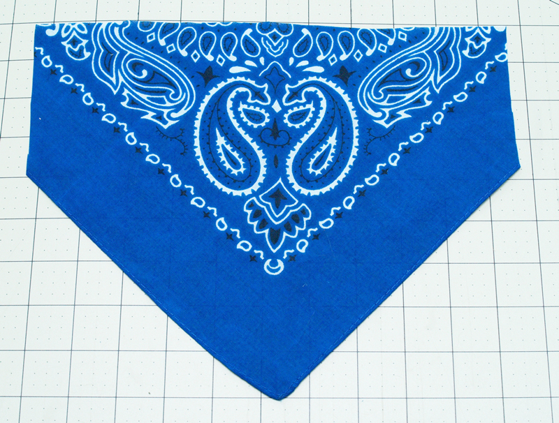 Trim ends from bandana