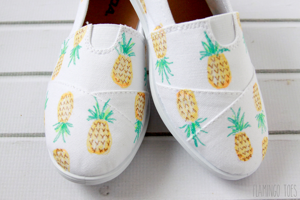 Easy Pineapple Shoes