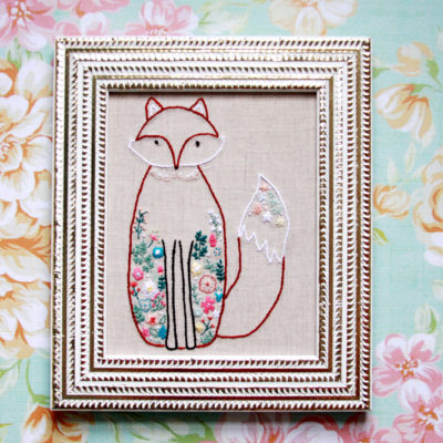 Francine the Floral Fox Embroidery Pattern