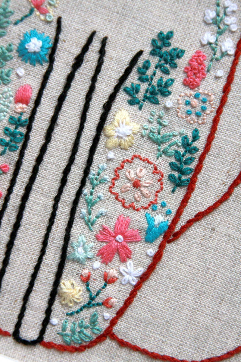 Flowers and Vines Embroidery
