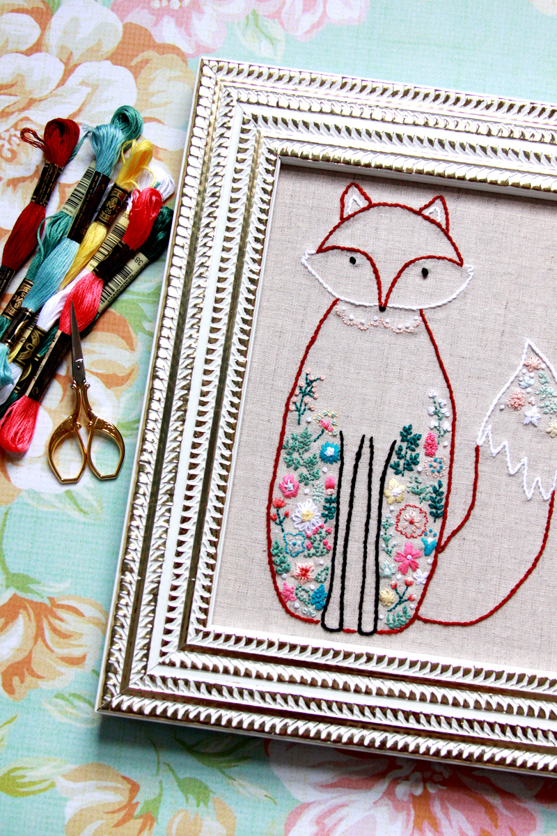 Francine the Fox Embroidery Pattern