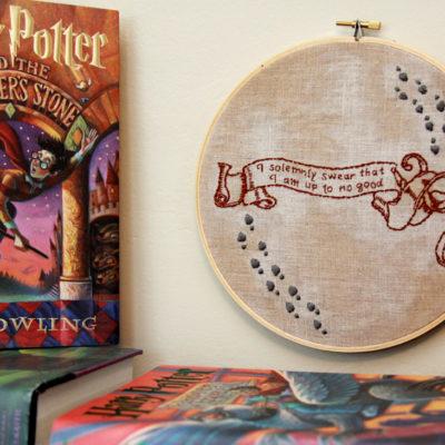 I Solemnly Swear – Harry Potter Hoop Art