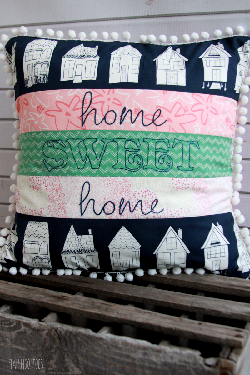 Fun Embroidered Pillow