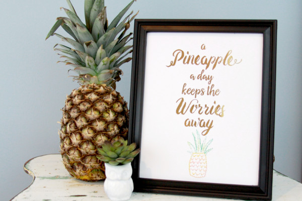 Gold foil summer printable