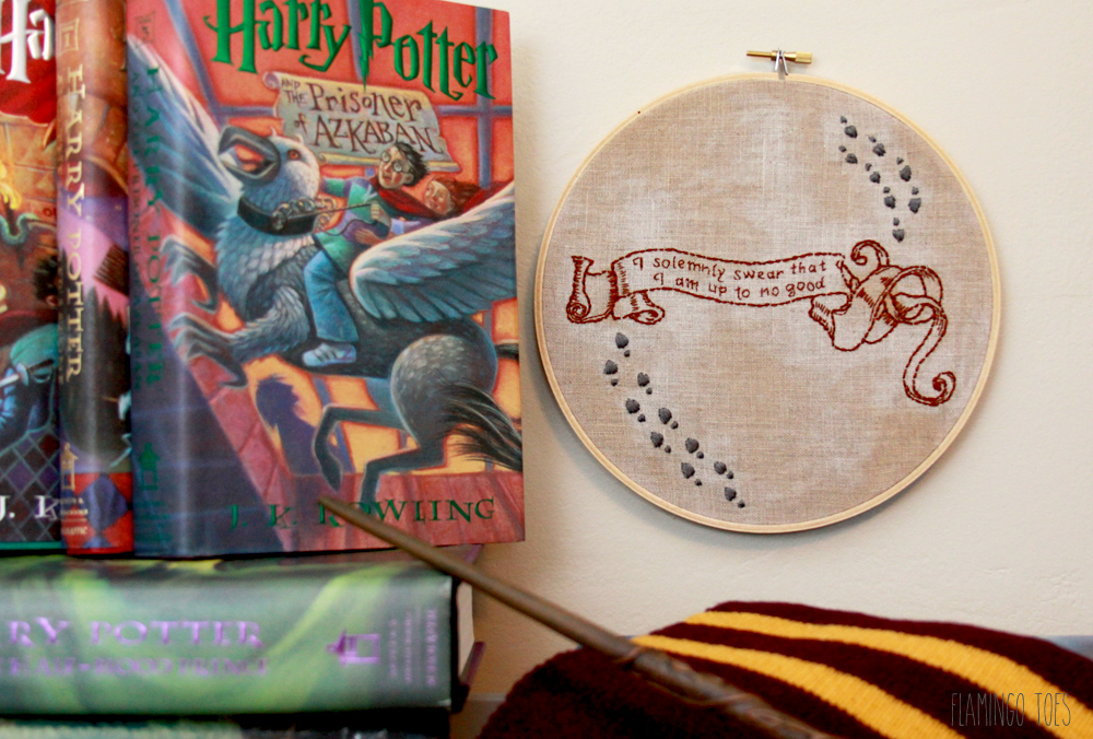 Harry Potter Map Hoop Art