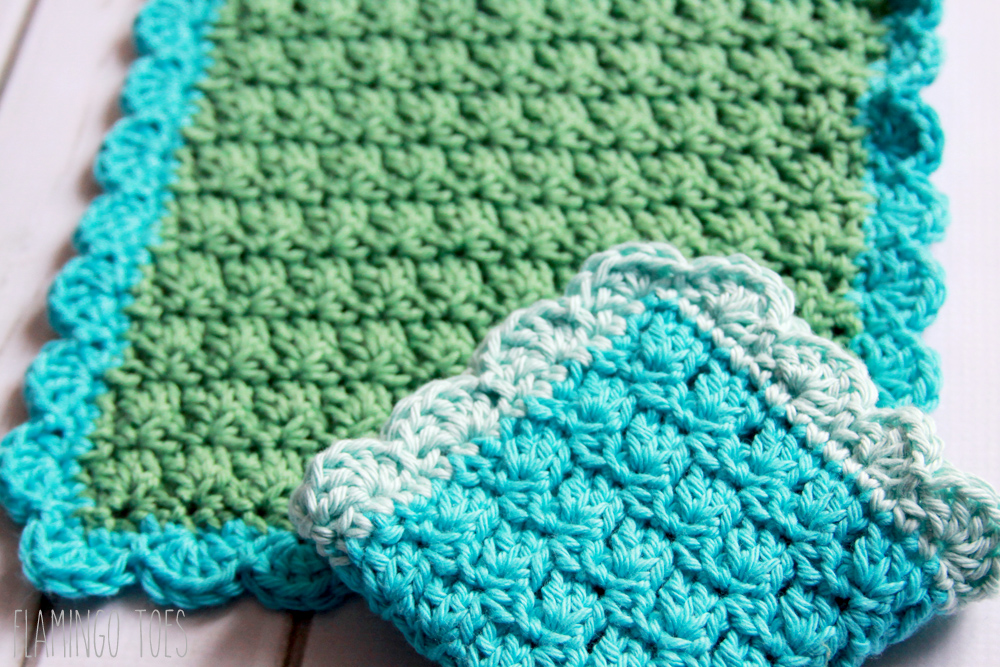 Crochet Dish Towel : Easy Crochet Dish Cloth Pattern -