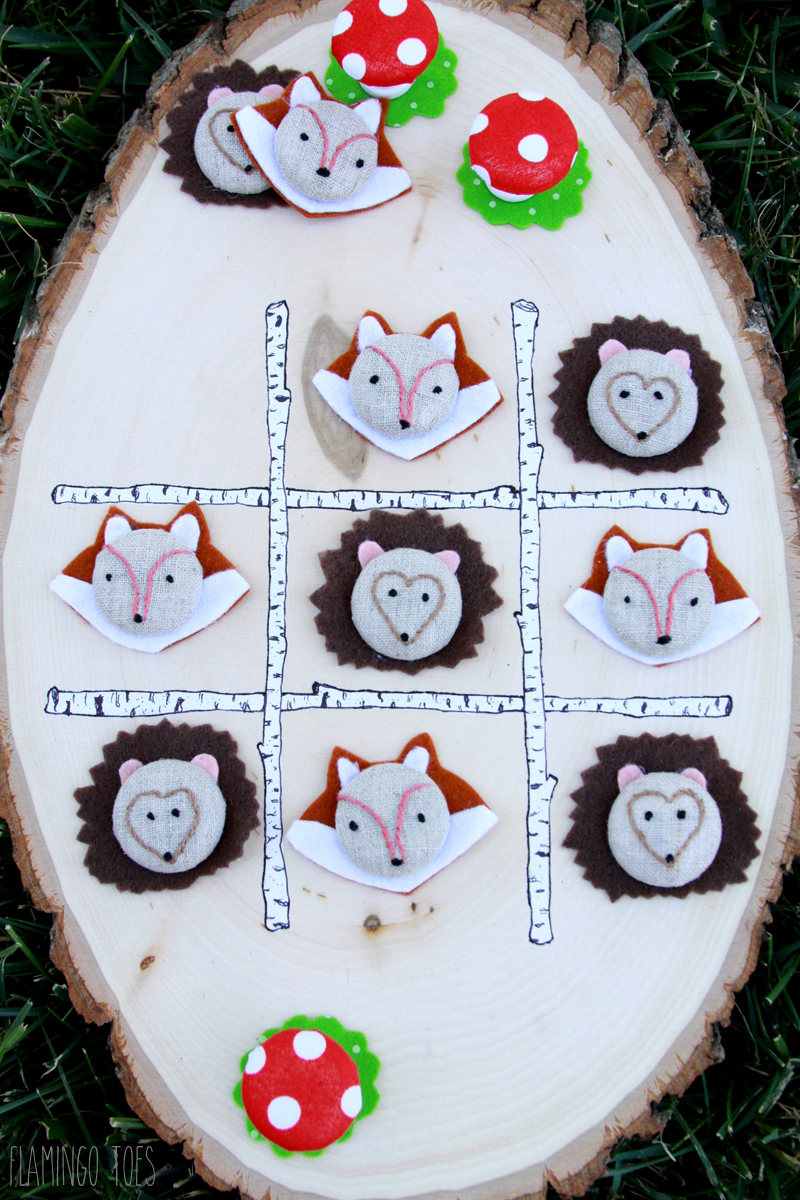 Woodland Animal Tic Tac Toe
