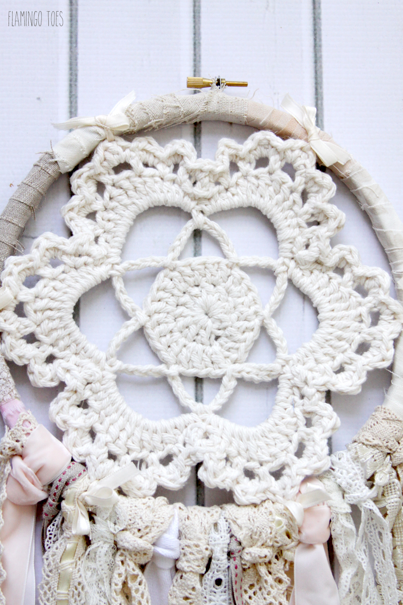 Crochet Flower Dreamcatcher