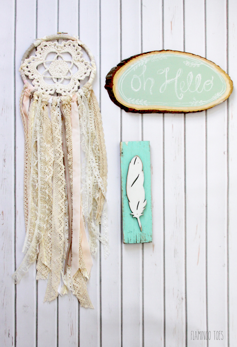 Crochet and Lace Dreamcatcher