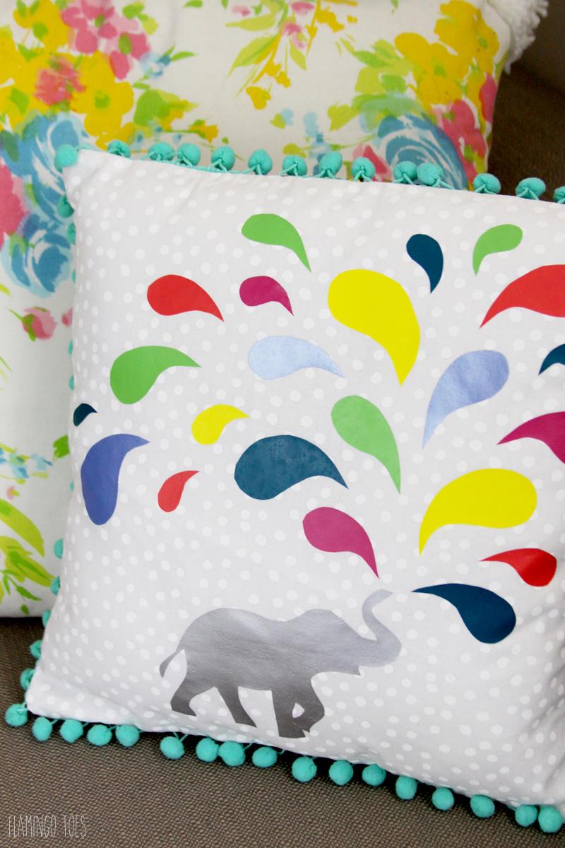Easy Vinyl Elephant Pillow