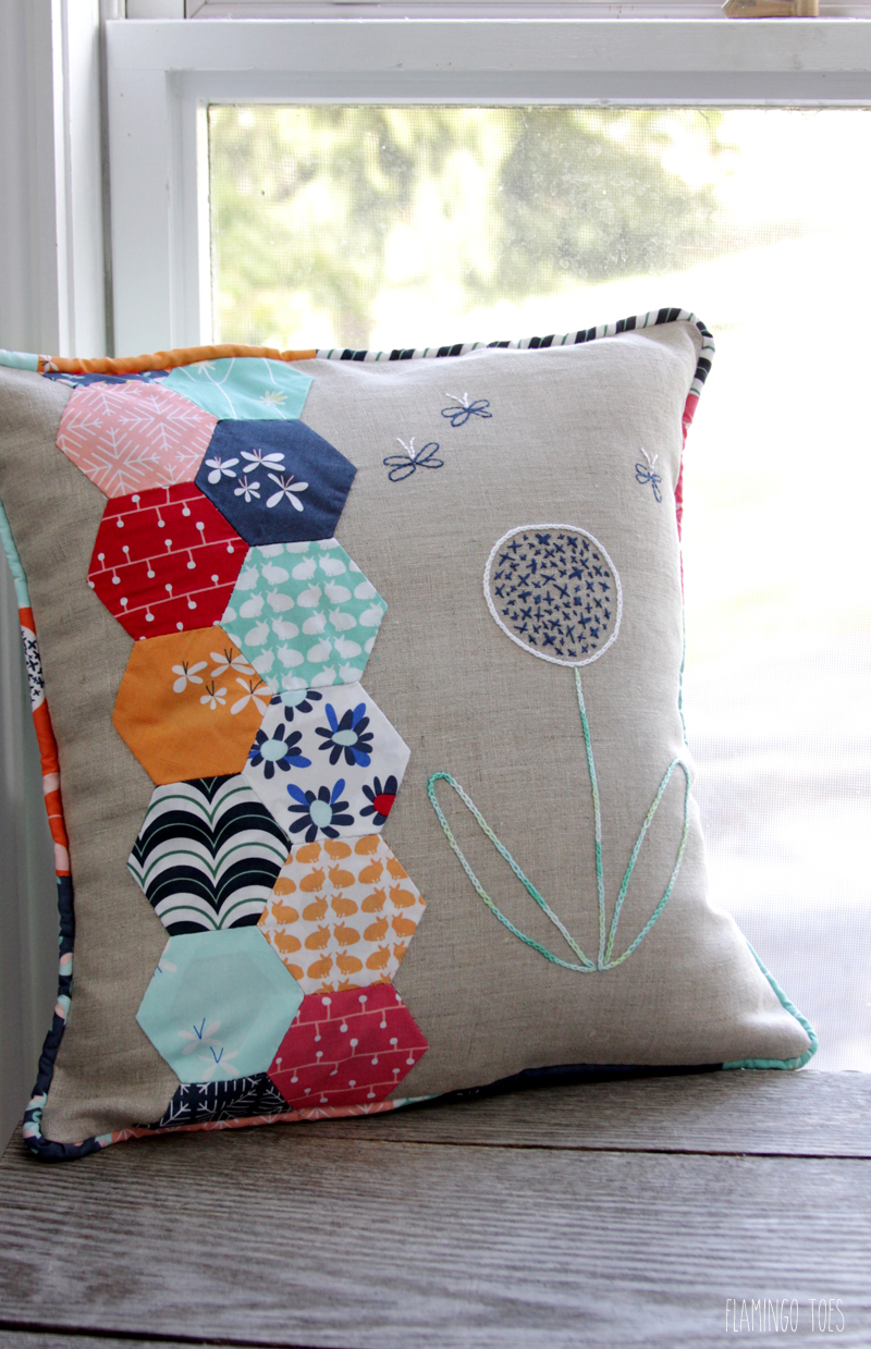 Fabric and Embroidery Pillow
