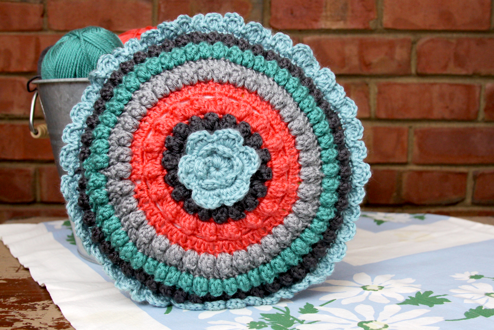 Free Colorful Crochet Pillow Pattern