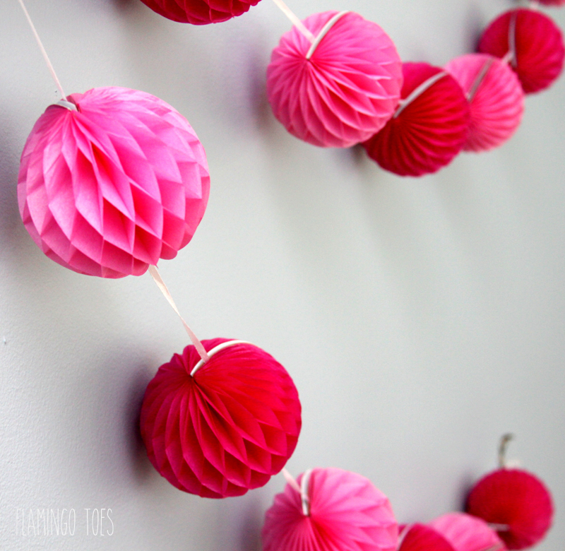 Pink Honeycomb Pennant