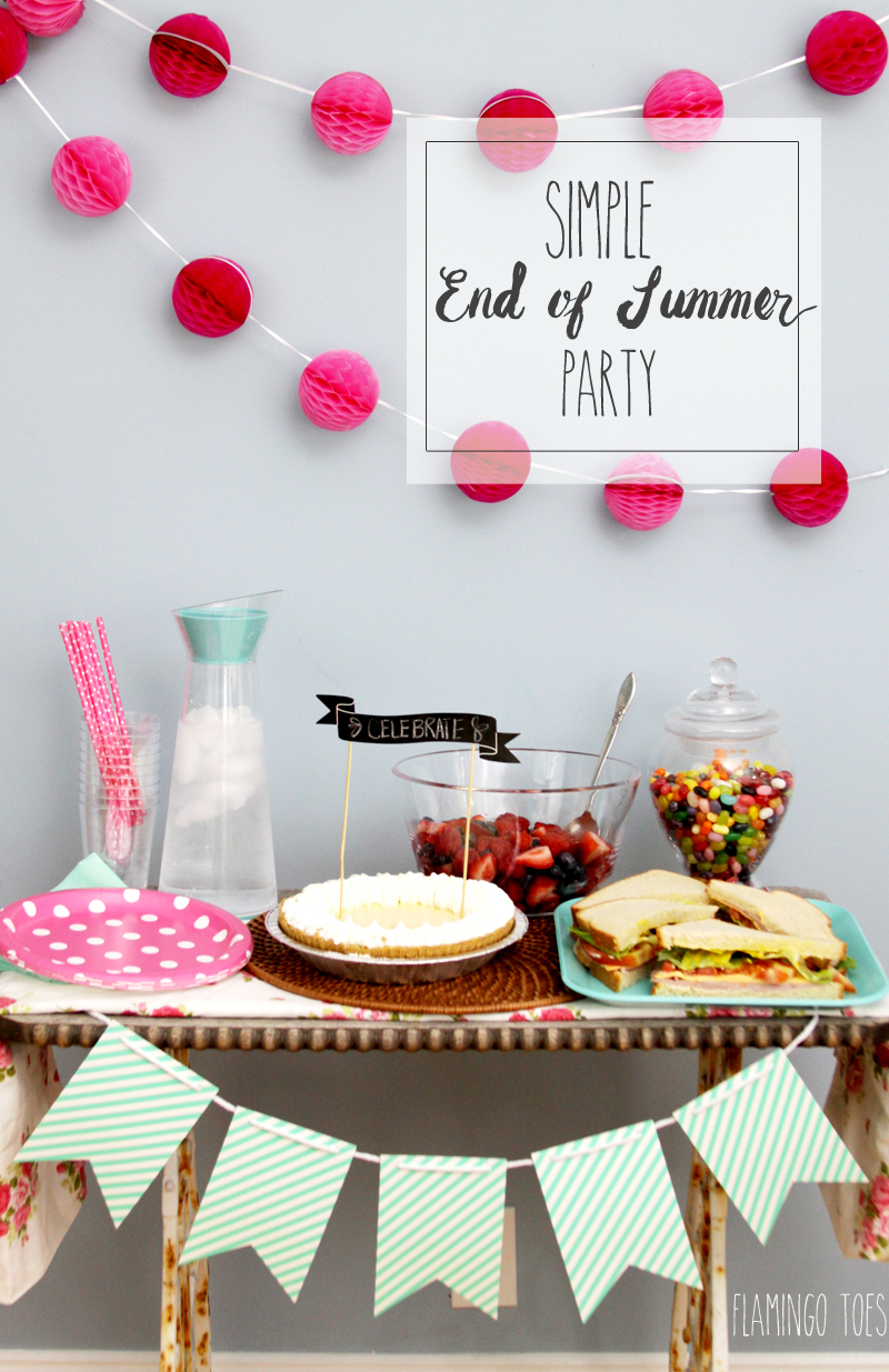 Simple End of Summer Party