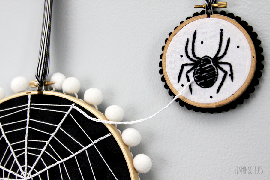 Connected Embroidery Hoop Art