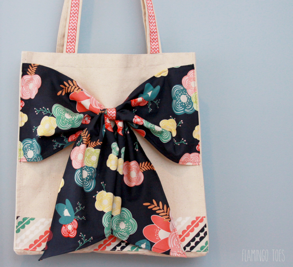 Cute Canvas Bow Tote