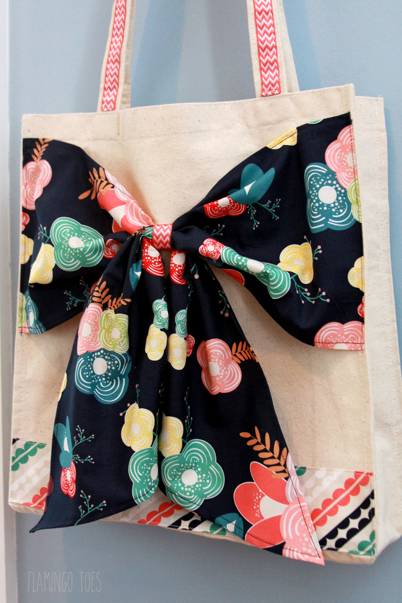 Cute Fabric Bow Tote