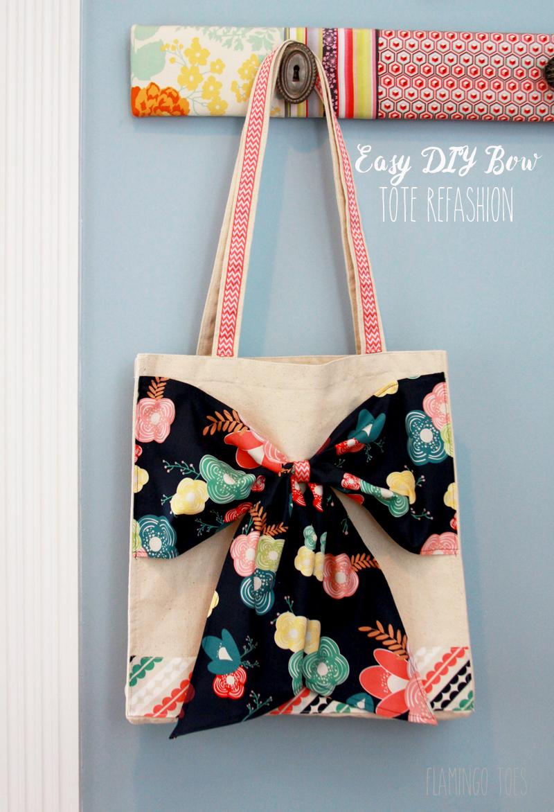 Easy DIY Bow Tote Refashion