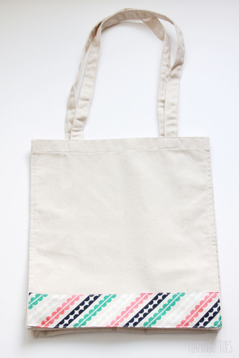 Fabric Band on Tote Bag