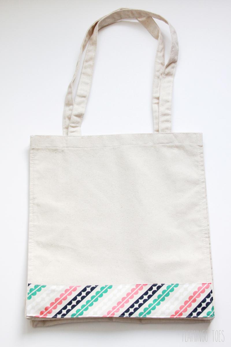 Fabric Band on Tote Bag