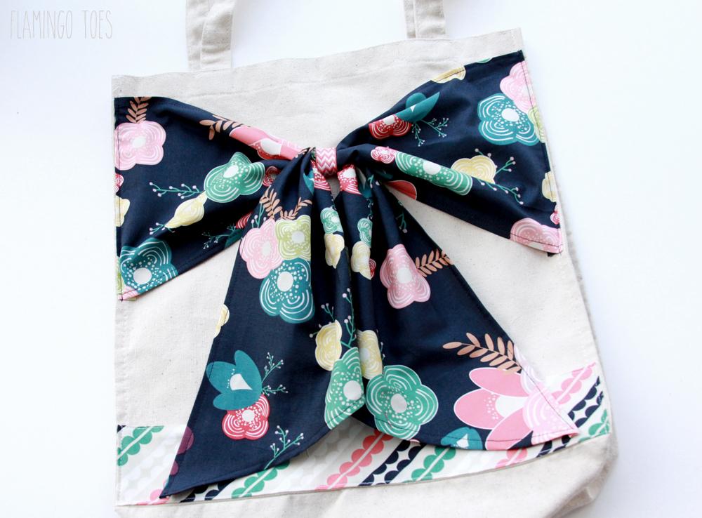 Fabric Bow on Bag