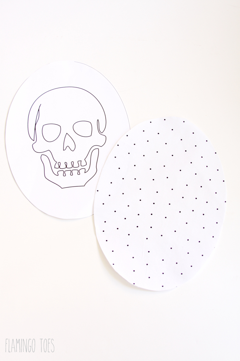 Fabric Skull for Pillow