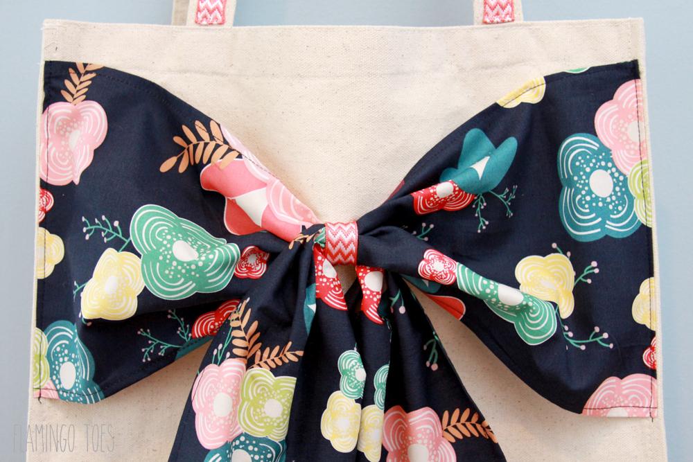 Fabric and Ribbon Bow