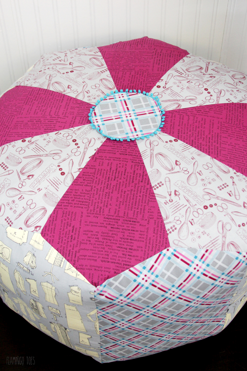 Sewing Room Decor - Fabric Pouf