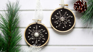 Shimmering Snowflakes Cross Stitch Ornament Pattern