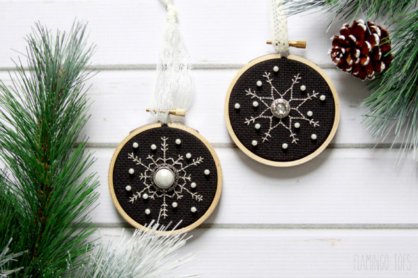 Shimmering Snowflake Ornaments