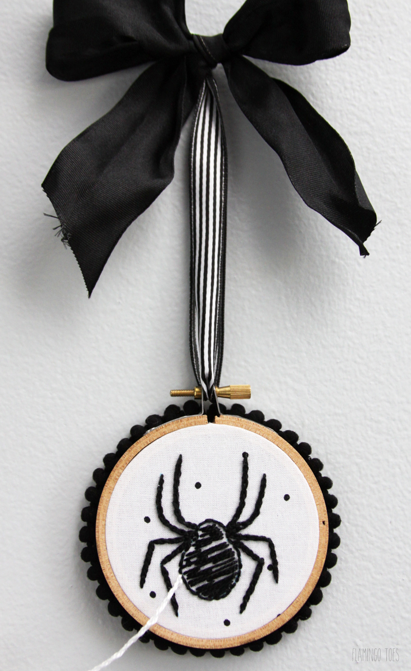 Spider Embroidery Hoop Art