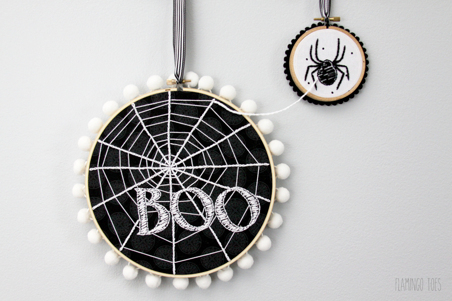 Spiderweb Hoop Art