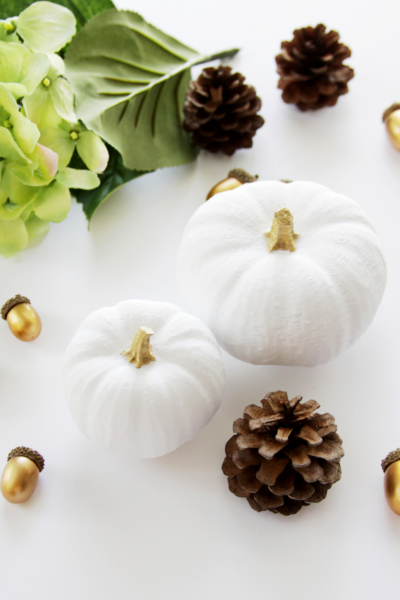 3D Printed Pumpkins created with HP Sprout