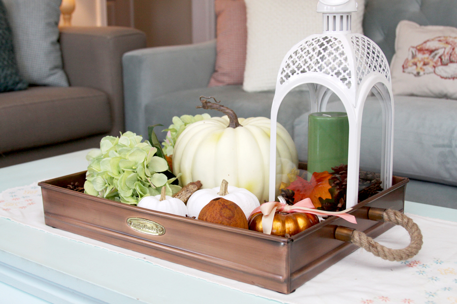 Coffee Table Display for Fall