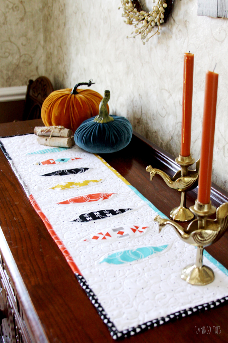 Colorful Quilted Table Runner