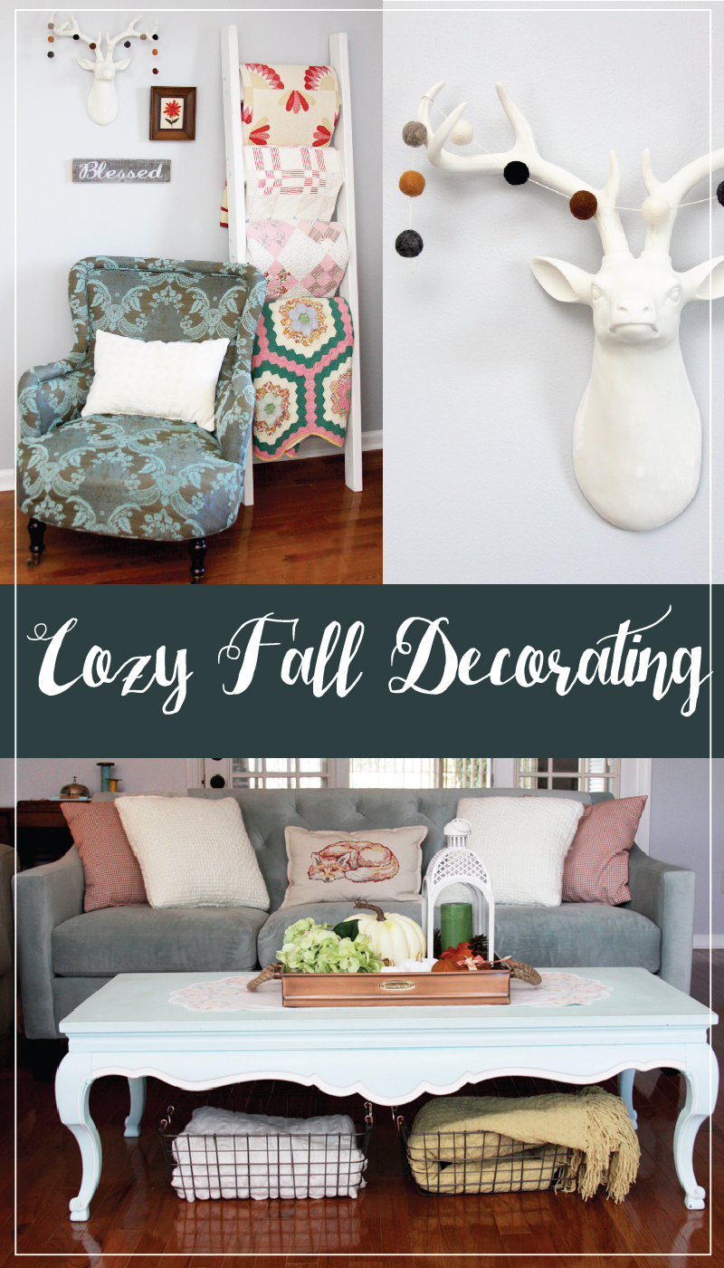 Cozy Fall Decorating with simple style and pieces you can change up for other holidays!