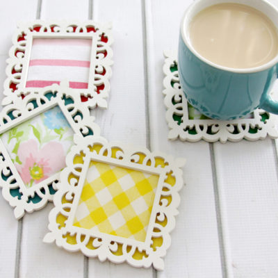 Colorful Framed Fabric Coasters