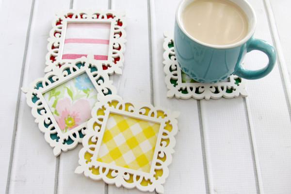 Easy Fabric and Felt Coasters