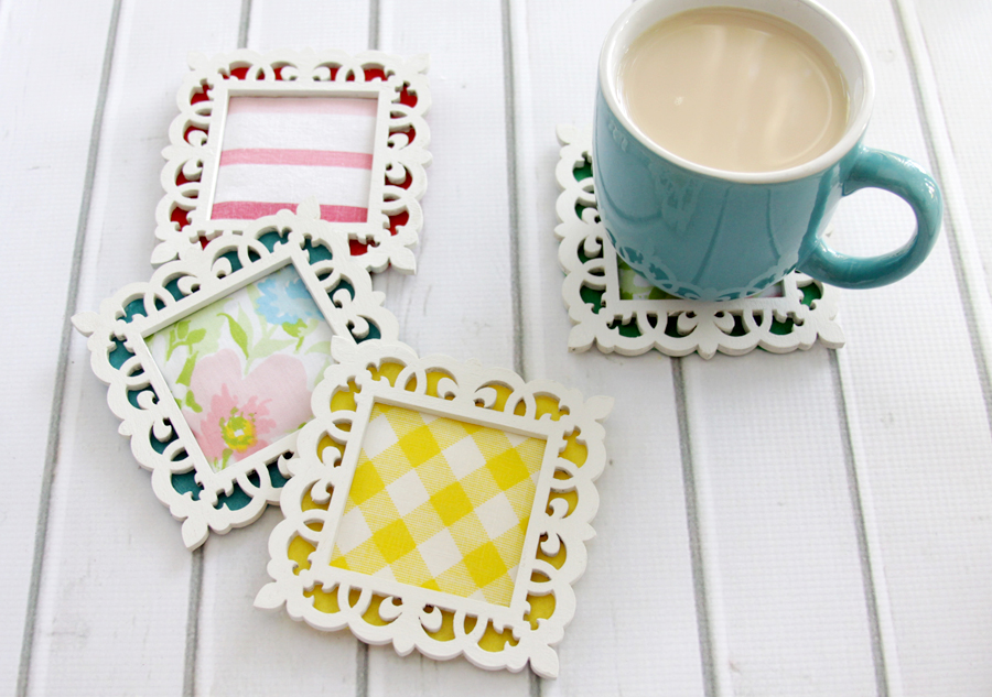 Easy Fabric and Felt Coasters