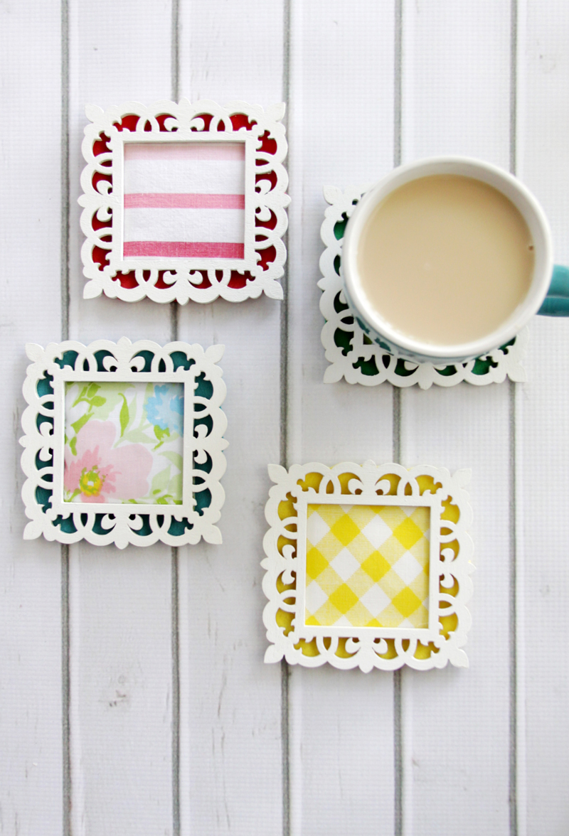 Fun DIY Wood and Fabric Coasters