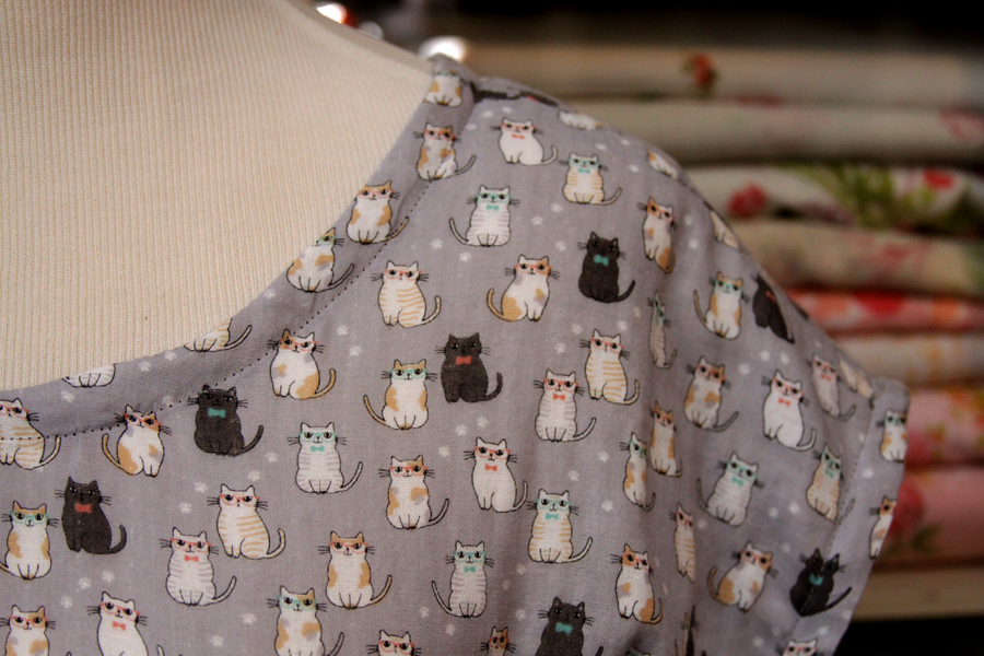 Hipster Cats fabric