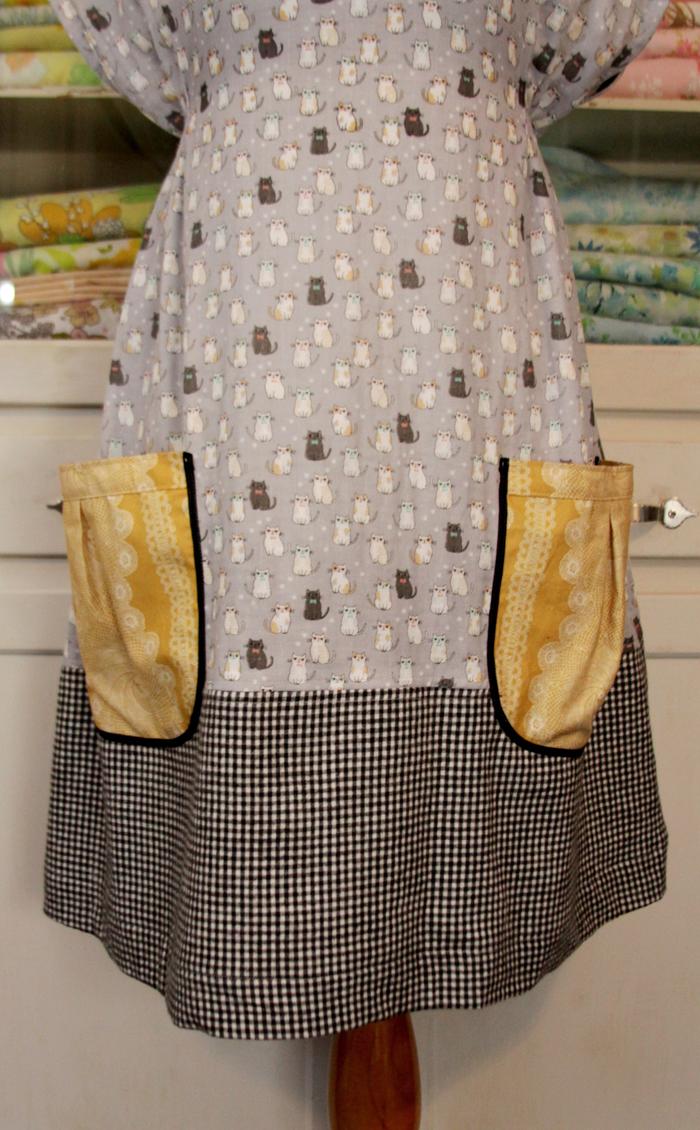 Pattern mixing on dress