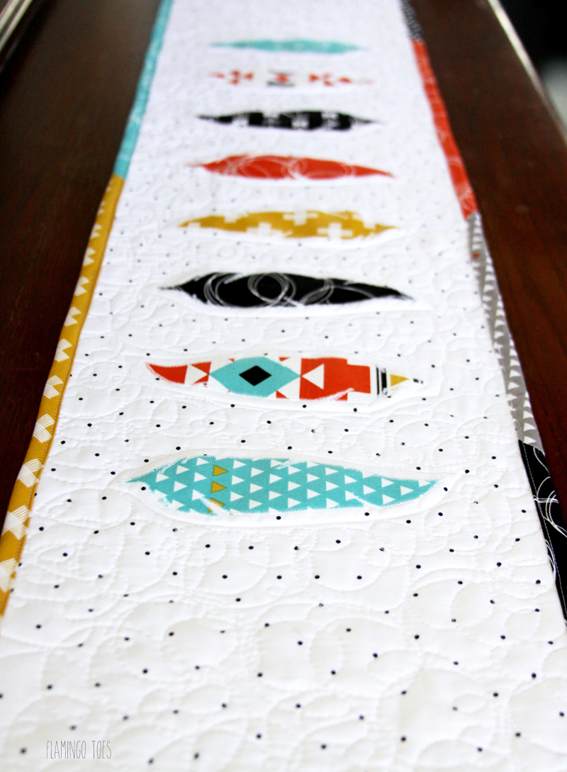 Quilted Feather Table Runner
