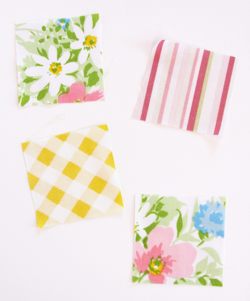 Small fabric squares