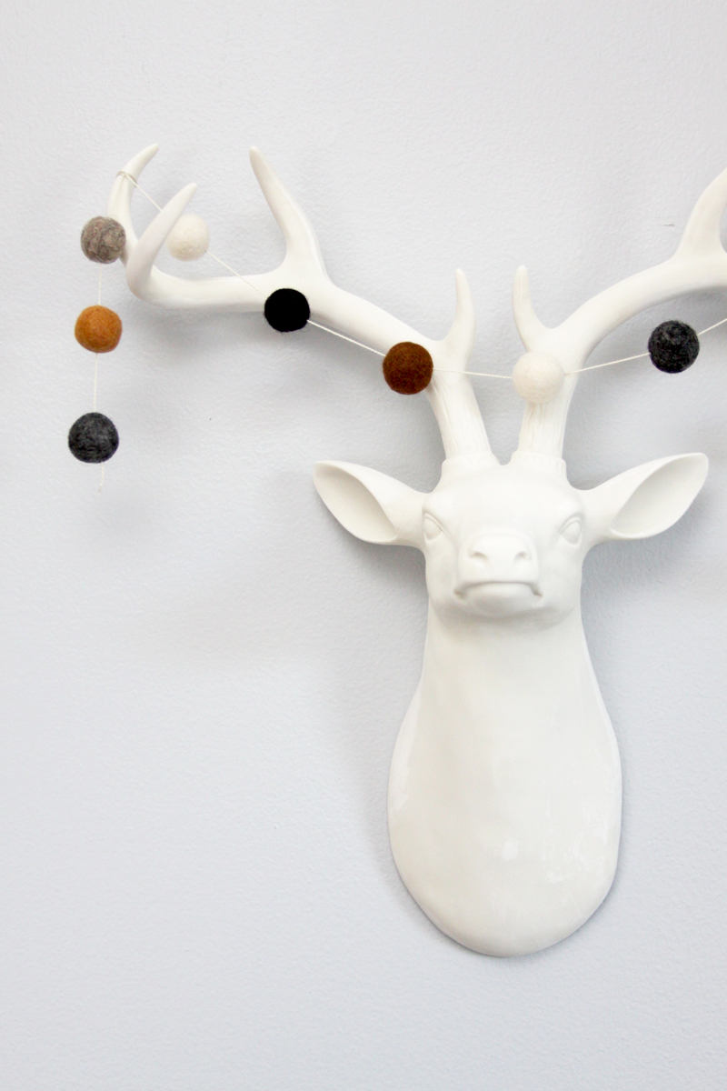 Target Deer decorated with Wool Garland