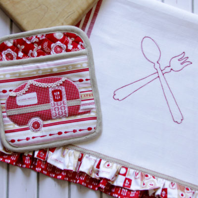 DIY Vintage Camper Kitchen Set