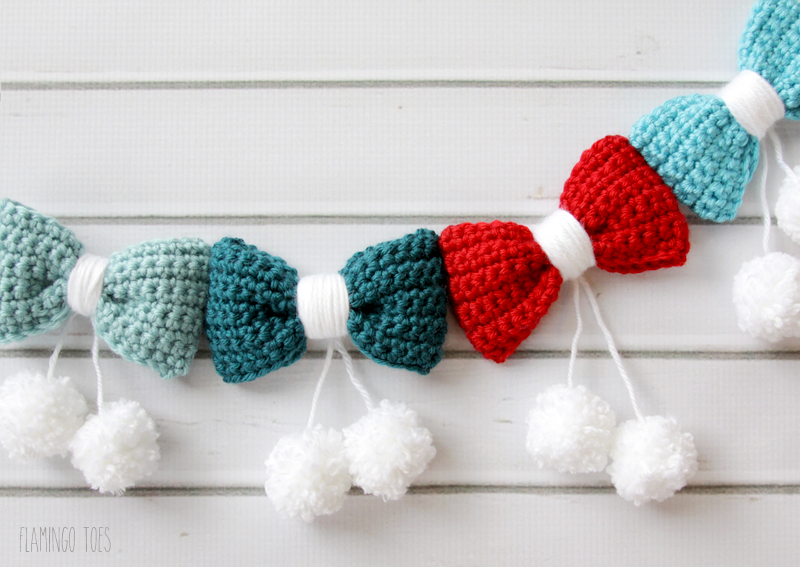 Crochet Bow Garland